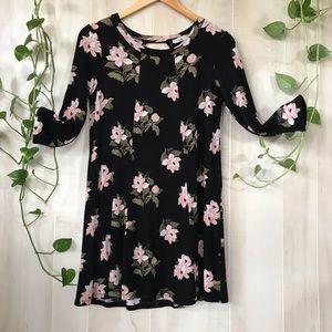 Floral Lush 3/4 sleeve dress